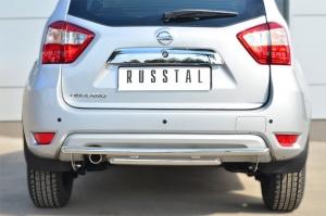 Nissan Terrano 2014-  Защита заднего бампера d42 (дуга) d42 (дуга) декор паз NTRZ-001797